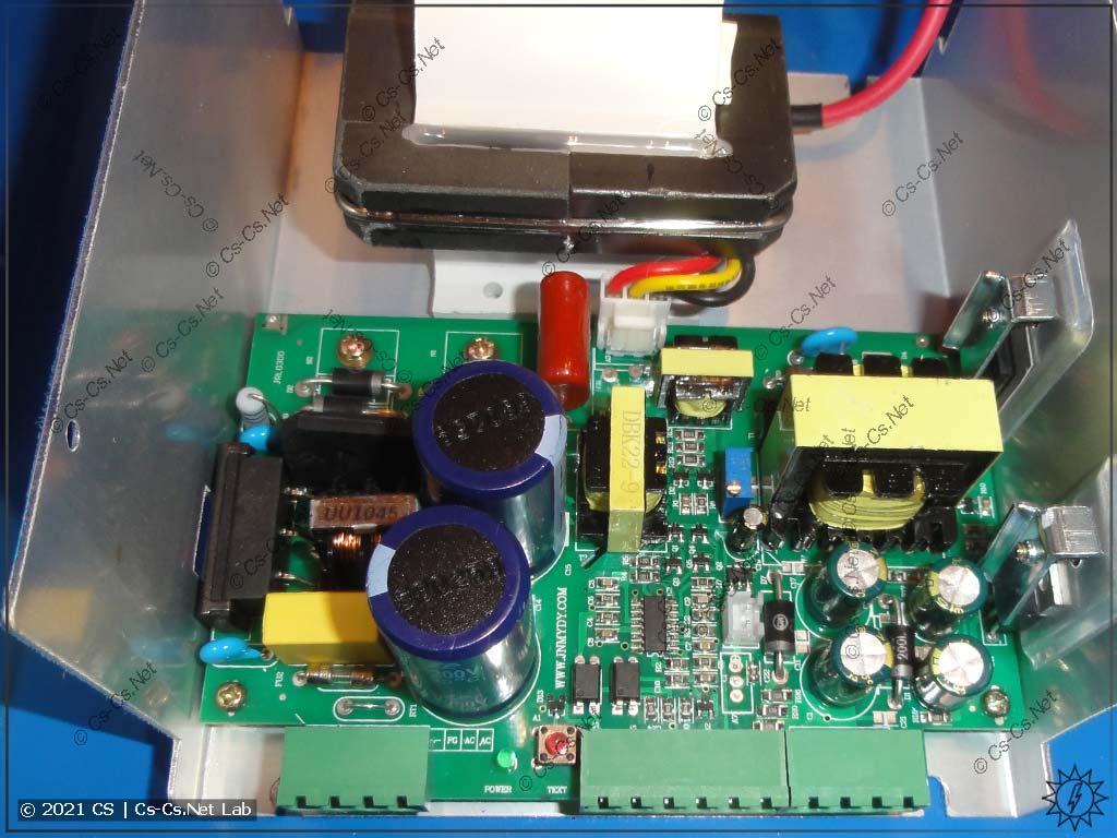 Внутренности блока питания лазерного станка MyJG-40