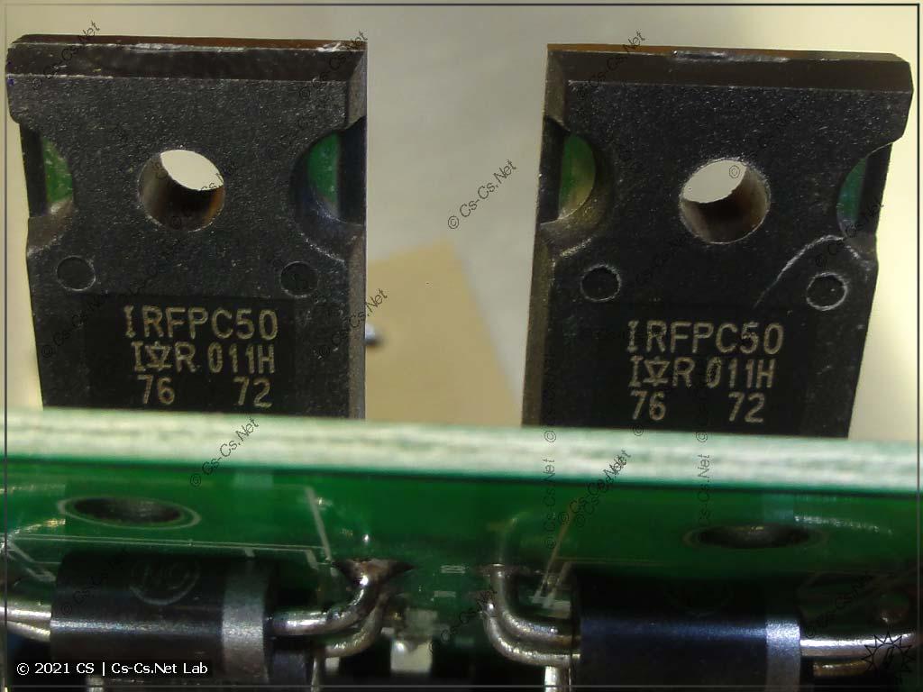 Силовые транзисторы в блоке питания MyJG-40: IRFPC50 (рабочие)