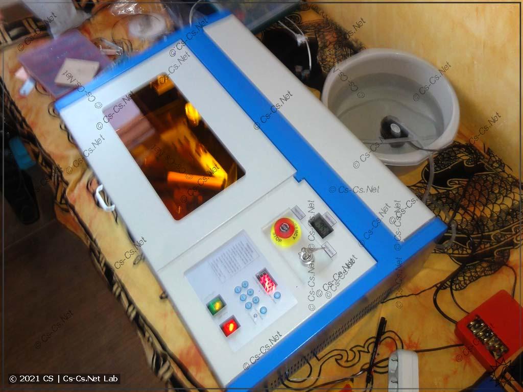 Станок лазерной резки на базе CO2 лазера: первое включение наспех с рук как попало